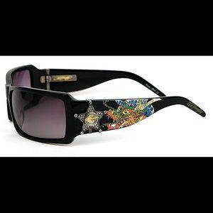 Ed Hardy Sunglasses Sheriff Dragon Black  EHS-021